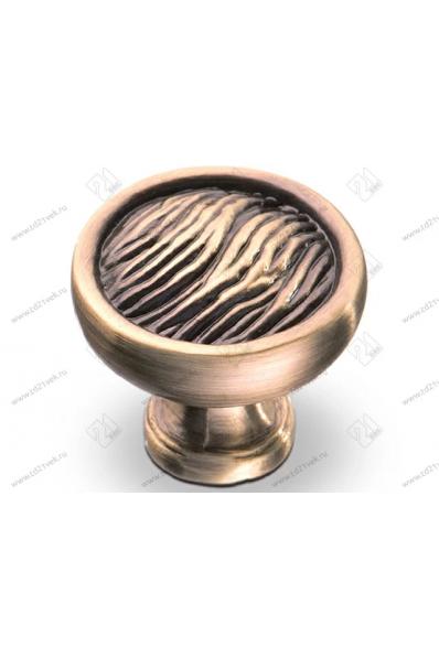 RK-06-27 BA Ручка-кнопка, диам. 27 мм, бронза