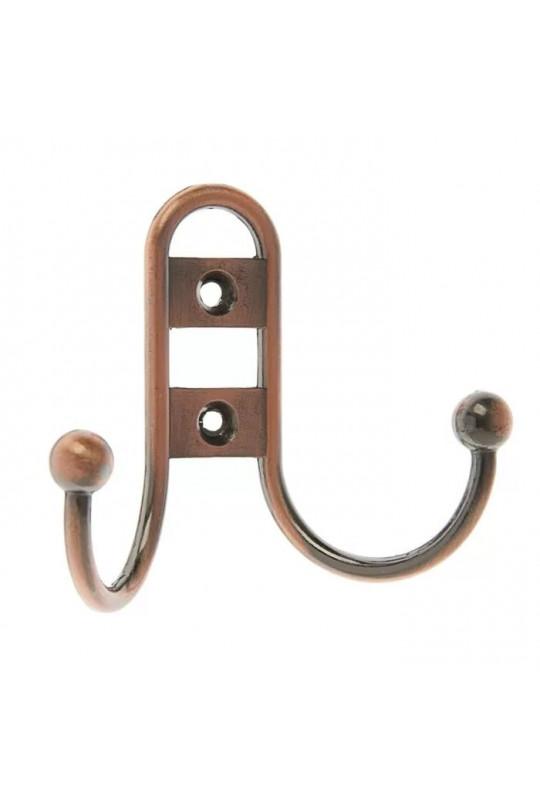 Крючок мебельный 220 маленький медь